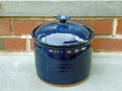 Kitchen Canister Pottery Canister Deep Blue