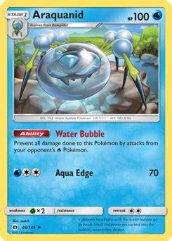 araquanid sun moon tcg card  pokemoncom