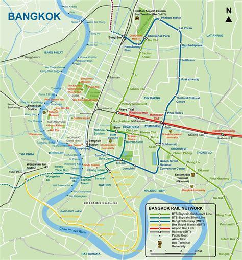 map  bangkok city centre seacitymapscom bangkok