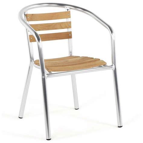 chaise jardin bois chaise de jardin aluminium bois