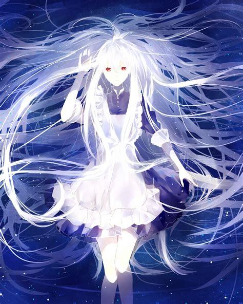 kozakura mary anime girls kagerou project white hair
