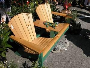 Double Adirondack chairs Lin-u-Type