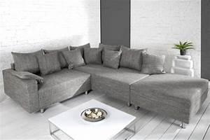 Design Ecksofa Mit Hocker Loft : design ecksofa mit hocker loft strukturstoff grau federkern sofa ottomane beidseitig aufbaubar ~ Bigdaddyawards.com Haus und Dekorationen
