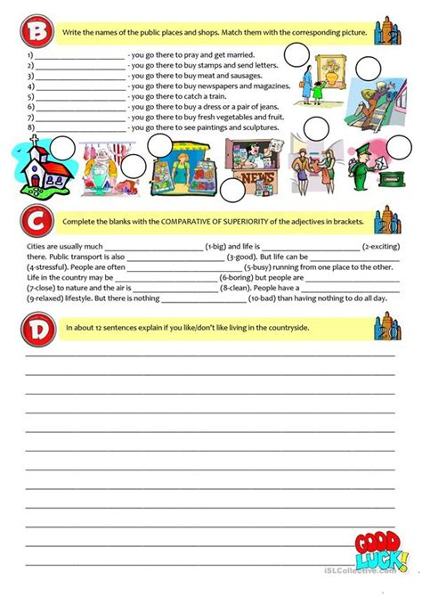 city  countrylife test  grade worksheet