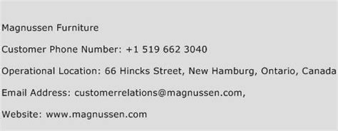magnussen furniture customer service number toll free