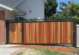 Wrought Iron Fencing with Wood