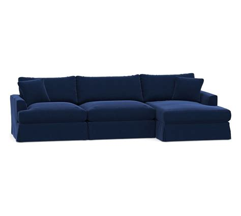 sullivan fin arm deep seat slipcovered sofa  chaise