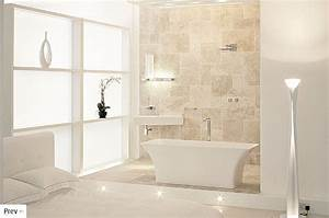 White interior design for White and beige bathrooms