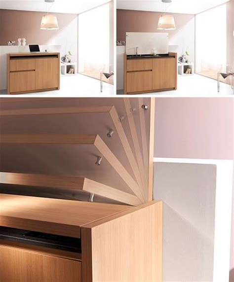 compact kitchenette cools cooks cleans