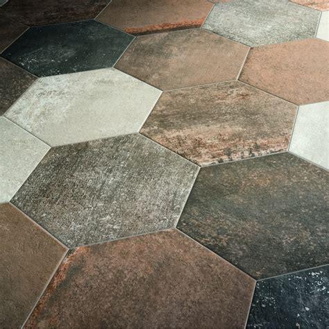 carrelage hexagonal sol effet terre cuite 36 4x40