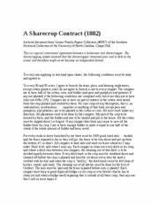 Sharecropper+Contracts - n I 5 mark under Sharecropper and ...