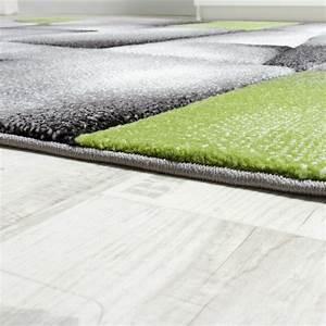 Teppich Grün Grau : designer teppich modern kariert mit handgearbeitetem konturenschnitt grau gr n teppiche kurzflor ~ Markanthonyermac.com Haus und Dekorationen
