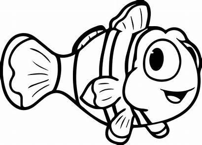 Ikan Gambar Hitam Putih Nemo Mewarnai Coloring