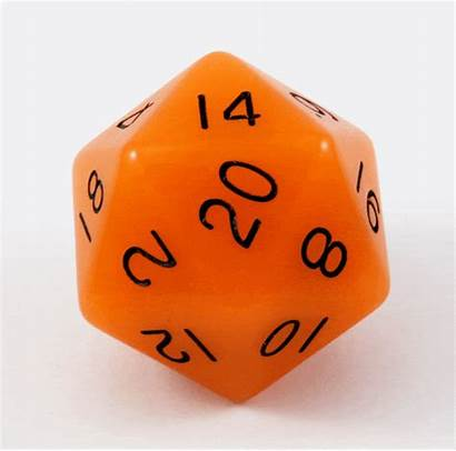 D20 Dark Dice Glow Orange Die Giant