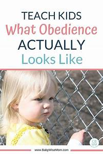 teach what obedience looks like babywise
