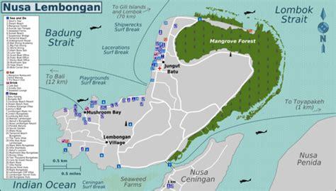 detail nusa lembongan bali location map  tourist
