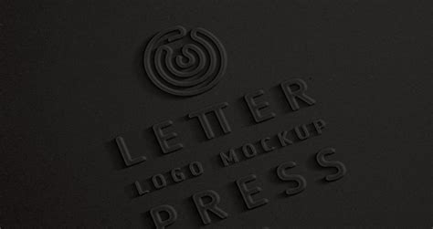 embossed  logo mock  template psd mock  templates pixeden