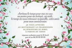 Carte Invitation 70 Ans Elegant Carte Invitation Gratuite
