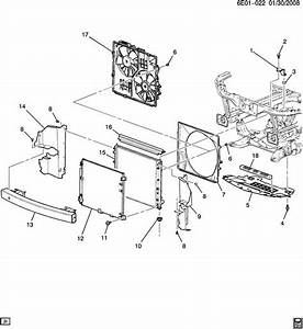 Cadillac Srx Deflector  Radiator Air  Deflector  Frt Air