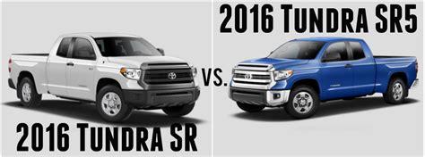 toyota tacoma vs tundra 2016 toyota tundra sr vs sr5
