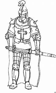 Ritter Mit Schwert Und Scheide Ausmalbild Malvorlage