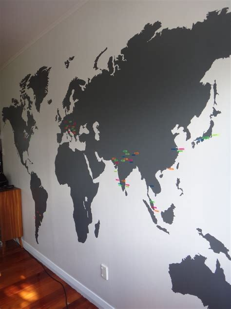 extra large world map vinyl wall sticker   house