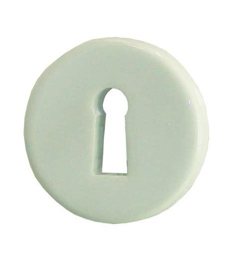 1 2 poign 233 e de porte ovalie sur rosace trou serrure porcelaine de limoges blanche 1001poign 233 es
