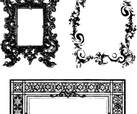frames ornate borders ai svg eps vector