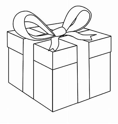 Coloring Box Present Gift Christmas Pages Template
