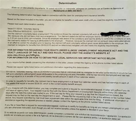 letter of termination unemployment question receive work ui state 8282