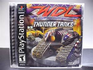 Wdl Thunder Tanks Sony Playstation 1 Game Ps1 Complete