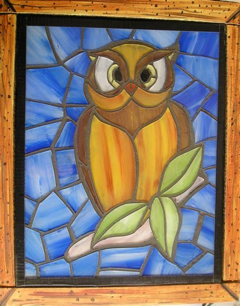 faux stained glass owl  steps  pictures