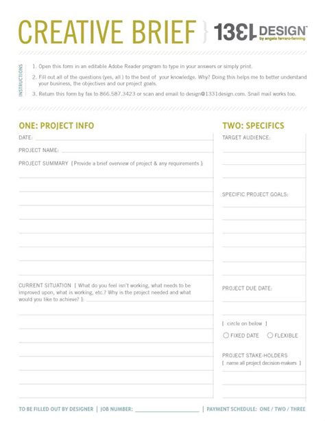 fax template pdf creative brief template doliquid