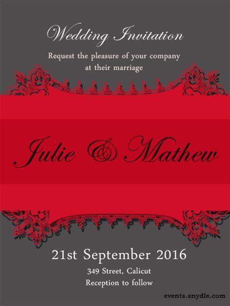 wedding invitation cards festival