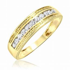 Yellow gold wedding band white gold engagement ring for Mens wedding rings with diamonds white gold