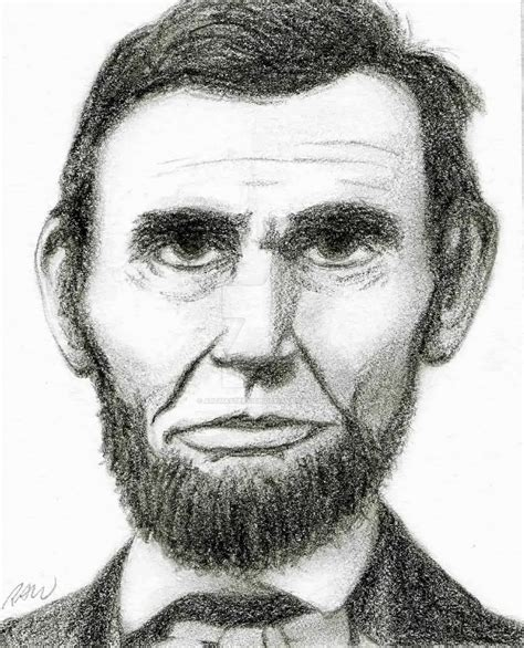 abraham lincoln with hat drawing drawing of abraham lincoln by artmasterrich on deviantart