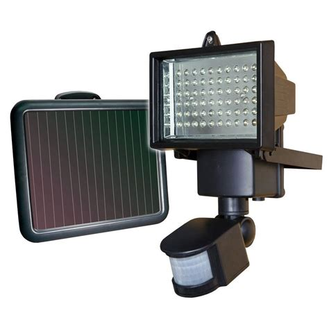 home depot security lights sunforce solar motion security light with 60 led 82156