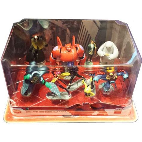 disney action figurine set big hero  baymax hiro