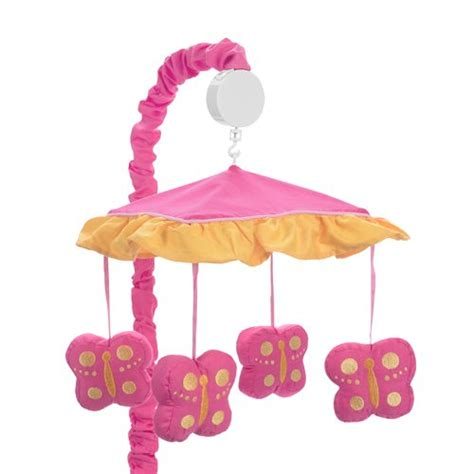 musical crib mobile pink and orange butterfly collection musical crib mobile