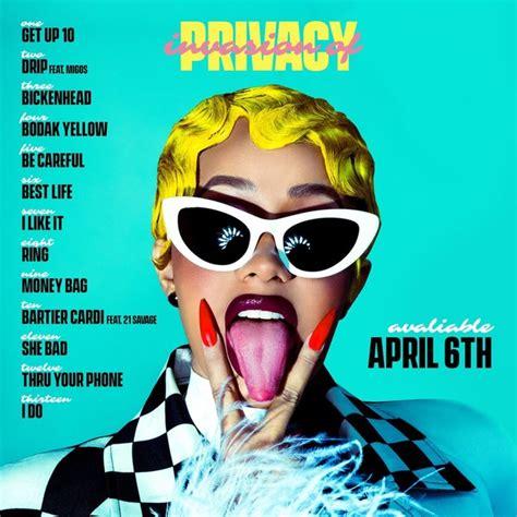 cardi b thru your phone ft this is cardi b s invasion of privacy album tracklist