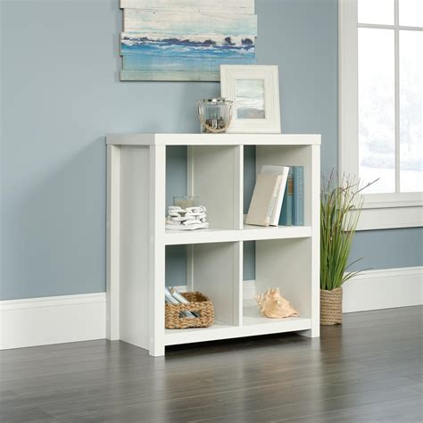 Cube Bookcase White by Homevisions Soft White 4 Cube Bookcase 425048 The Home Depot