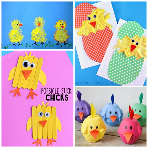 The Most Adorable Chick Crafts For Kids  Crafty Morning