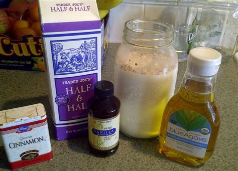 Keep reading to learn how to make a basic coffee creamer, plus five ways to add flavor. My homemade creamer. All natural, inexpensive and yummy :) 3 cups half & half, 1/3 cup agave ...
