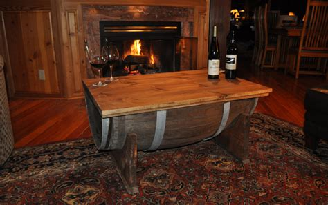 build  whiskey barrel coffee table
