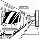 Coloring Pages Subway Train Metro Print Drawing Printable Getcolorings sketch template