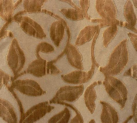Velvet Drapery Fabric - drapery upholstery fabric cut velvet leaves on barkcloth