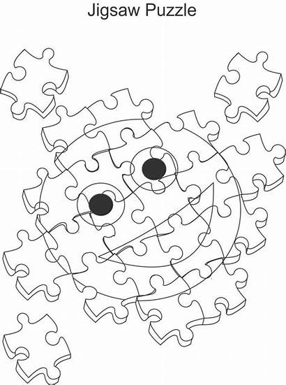 Puzzle Puzzles Coloring Jigsaw Pages Printable Drawing