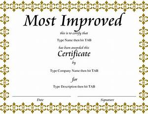 8 best images of gold certificate templates gold for Most improved certificate template