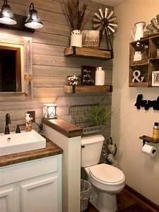 50 stunning rustic farmhouse bathroom decorating ideas 9
