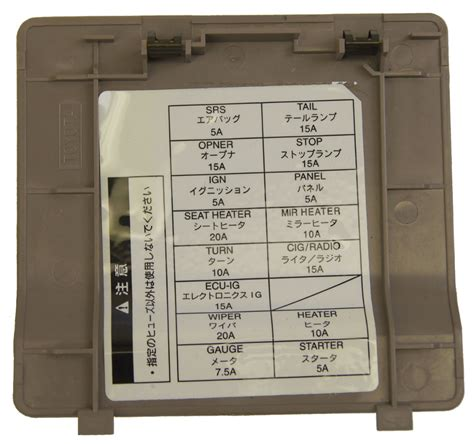 1995 Toyotum Avalon Fuse Box by 1995 1999 Toyota Avalon Non Us Models Fuse Box Cover